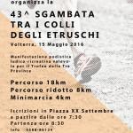 24° marcia – 15/05 (Do) Volterra (PI) – Piazza XX Settembre 43° SGAMBATA TRA I COLLI DEGLI ETRUSCHI