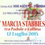 42° marcia – 12/07 (Do) Stabbia (FI) – Circolo ACSI – via Francesca 108 7° MARCIA STABBIESE – FRA PALUDE E COLLINA