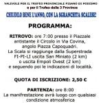 67° marcia – 27/12 (Do) La Scala di San Miniato – Circolo Arci Nova, via Covina 11 11° Sgranchita Scalese